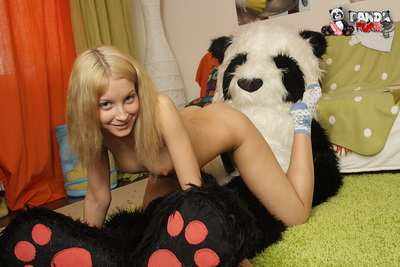Teenage blonde babe in toys porn film